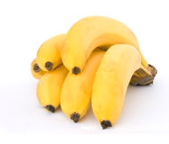 Bunch of bananes. Isolated on whie background Royalty Free Stock Photo