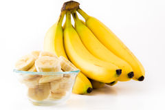 A bunch of bannanas Stock Image