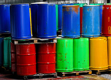 Bunch of barrels Royalty Free Stock Photo