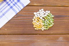 Cooking ingredients on a wooden table stock photos