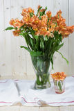 Bunch of beautiful alstroemeria flowers Stock Image