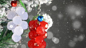 Bunch of berries christmas tree decoration close-up Royalty Free Stock Image