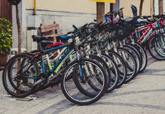 Bunch of bicycles Royalty Free Stock Photo