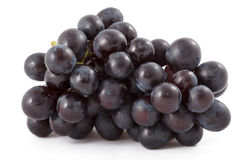 Bunch of black grapes isolated Royalty Free Stock Photo