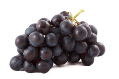 Bunch of black grapes isolated Stock Image