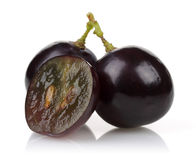 A bunch of black grapes Royalty Free Stock Photography