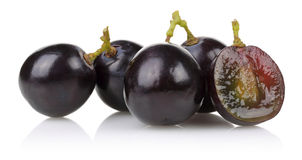 A bunch of black grapes Royalty Free Stock Photo