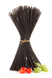 Bunch of black spaghetti Royalty Free Stock Images