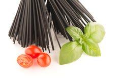 Bunch of black spaghetti Royalty Free Stock Photos