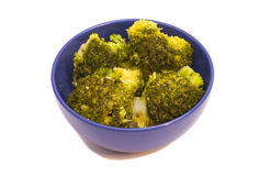 Bunch of boiled green broccoli Royalty Free Stock Images