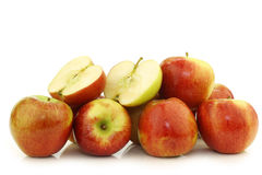 Bunch of braeburn apples Stock Photo