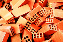 Bunch of bricks. For construction stock image