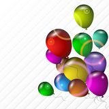 Bright balloons on a light background Royalty Free Stock Photos