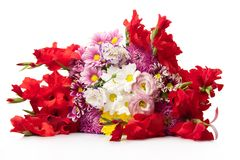 Bunch of bright flowers Stock Images