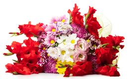 Bunch of bright flowers Stock Image