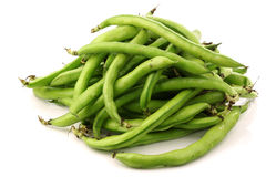 Bunch of broad beans Stock Photo