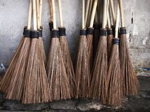 Bunch of broom sticks Stock Photography