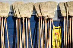 Bunch of brooms Royalty Free Stock Photo