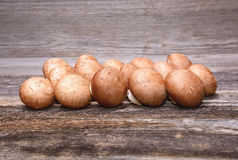 Bunch of brown champignons Royalty Free Stock Photography
