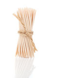 Bunch of brown toothpicks Stock Images