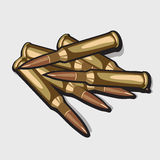 Bunch bullets. Vector image of the war theme Royalty Free Stock Photo
