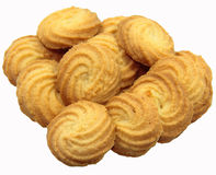 Bunch of butter cookies Stock Photo