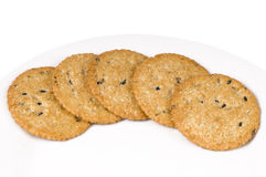 Bunch of butter cookies Royalty Free Stock Photography
