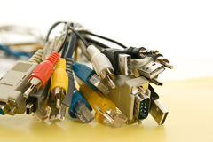 Bunch of cables Royalty Free Stock Images