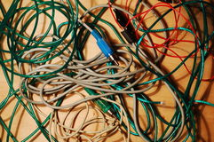 Bunch of cables Stock Photography
