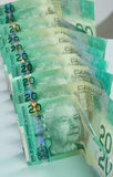 Portrait Canadian Twenty Dollar Bills Royalty Free Stock Photos