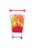 A bunch of candied fruits in a shopping trolley Royalty Free Stock Image