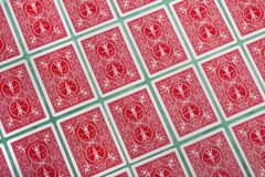 Bunch of cards flipped Royalty Free Stock Photo