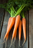 Bunch of carrots healthy vegetarian raw snack on Royalty Free Stock Photography
