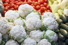 Cauliflower. A bunch of cauliflower fresh from the farm royalty free stock image