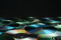 Bunch of CD's. A Bunch of CD's over black background Stock Photography
