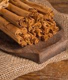 Bunch of Ceylon cinnamon Royalty Free Stock Photography