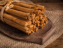 Bunch of Ceylon cinnamon Royalty Free Stock Images