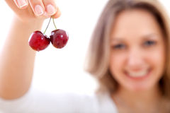 Bunch of cherries Royalty Free Stock Photo