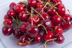 Bunch of cherries closeup Royalty Free Stock Images
