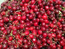 A bunch of cherries. A image of a bunch of cherries in a market stock photography