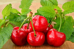 Bunch of cherries Royalty Free Stock Photography