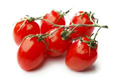 Bunch of cherry tomatoes stock images