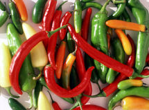Bunch of Chiles Royalty Free Stock Photo