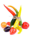Bunch of Chili Peppers Royalty Free Stock Photography