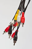 Bunch of chinch cables Stock Images