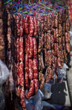 bunch of Chinese sausage Royalty Free Stock Photo
