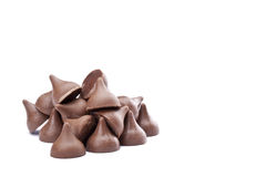Bunch of chocolate kisses Royalty Free Stock Photo