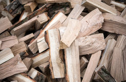 With bunch of chopped firewood Royalty Free Stock Photos