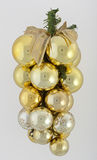 Bunch of Chrismas balls. Bunch of gold Chrismas balls Stock Photography