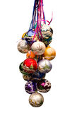 Bunch of  christmas baubles. Merry Christmas, Happy New year Royalty Free Stock Images